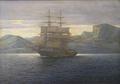 Emanuel A. Petersen - Grønlandsk fjordparti med en norsk tomaster - 1922.png