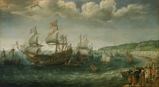 Embarkation of the Elector Palatine in the 'Prince Royal' at Margate, 25 April 1613
