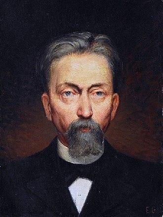 Émile Gallé - Émile Gallé, self-portrait