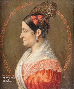 Encarnación Ezcurra - Encarnación Ezcurra around age 40, c.1835. Portrait by Fernando García del Molino