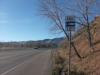 Colorado State Highway 121 - End of SH 121 just before Waterton Road