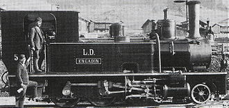 History of rail transport in Luxembourg - A Luxembourgish locomotive pictured in 1889
