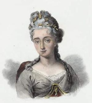Marguerite, Duchess of Rohan - Her youngest daughter, Jeanne Pelagie from a 19th-century engraving