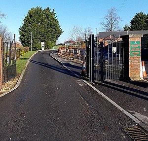 Gillingham School - Image: Entrance drive to Gillingham School main hall and arts centre (geograph 4291475)