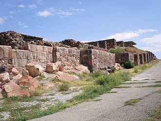 Erebuni Fortress - Exterior walls of Erebuni