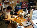 Eric Archer making a MeeBlip 7 - Dr. Bleep's garage workshop - MeeBlip build session, Austin, TX, 2010-10-17.jpg