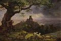 Ernst Ferdinand Oehme - Die Ruine von Kamaik in Böhmen (ca.1852).jpg
