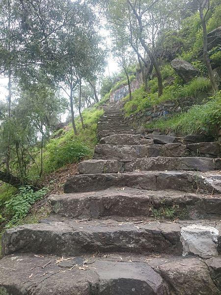 File:Escalera en la Zona Arqueológica Cuahilama.JPG