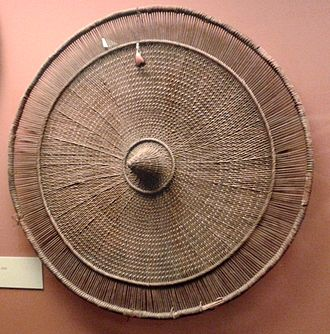Alto Rio Negro Indigenous Territory - Woven straw shield from the Uaupés River, before 1861