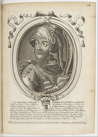 Ismail Ibn Sharif - The Grand Cherif Mouley Sémein ou Ismael, by Nicolas I de Larmessin.
