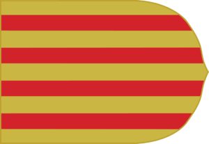 Battle of the Gulf of Naples - Kingdom of Aragon flag