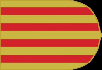 Taifa of Valencia - Image: Estandarte de la Corona de Aragon