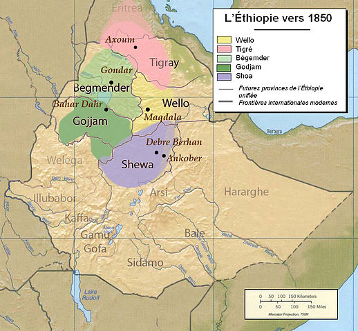 Ethiopia and other territories in Africa in 1843