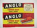 Etiqueta original de Corned beef - Frigorifico Anglo - Fray Bentos - Rio Negro - Uruguay.JPG