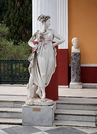 Euphrosyne - A statue of Euphrosyne in Achilleion palace, Corfu.