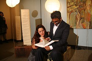 Eurydice (Ruhl play) - Eurydice's father reads to her from King Lear in a Shimer College production of Eurydice.