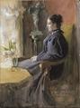 Eva Upmark, 1852-1944, född Kindstrand (Carl Larsson) - Nationalmuseum - 25310.tif