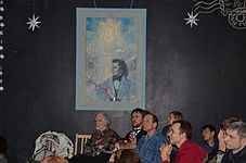 Evening with Ales Pushkin - Presentation Portrait of Chopin in Anticafe Fisher 10.02.2015 16.JPG