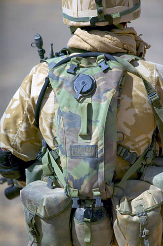 CamelBak - a CamelBak in the DPM Pattern in use by a British Soldier
