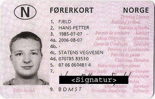 Driving licence in Norway