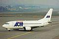 F-GINL B737-53C AOM ZRH 21MAR99 (6314298373).jpg
