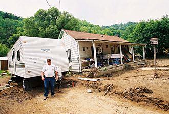 Coalwood, West Virginia - Flood damage in 2002