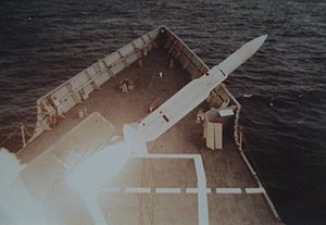 USS Nicholas (FFG-47) - Standard missile shot against a supersonic target off Puerto Rico in 2017