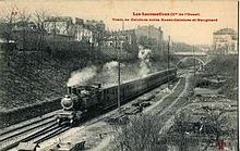 Train de voyageurs, avant la Première Guerre mondiale. La ligne de Petite  Ceinture de Paris ... b3a758859fd