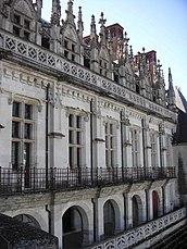 Fachada del ala Carlos VIII al castillo de Amboise