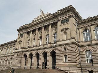 Palais Universitaire, Strasbourg - Detail of façade