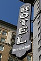 Faded sign of Huntington Hotel, downtown LA USA - panoramio.jpg