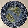 Faenza maiolica, piatto con leandro, 1525 ca..JPG