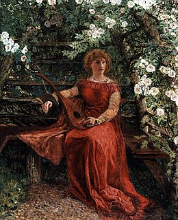 Fair Rosamund in her Bower by William Bell Scott (1811 — 1890)