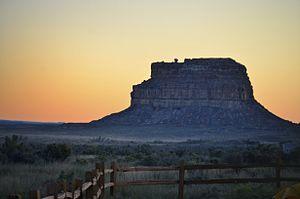 Fajada Butte - Fajada Butte at sunset in October, 2011