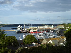 Falmouth Docks - Falmouth Docks viewed from Wodehouse Terrace