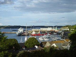 Falmouth Docks Port in United Kingdom