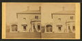 Family posing in front and in the porch of Stone House, from Robert N. Dennis collection of stereoscopic views 3.png