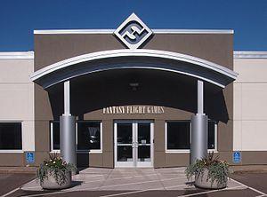 Fantasy Flight Games - Main entrance of the Fantasy Flight Games headquarters in Roseville, Minnesota