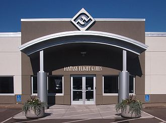 Fantasy Flight Games - Main entrance of the Fantasy Flight Games headquarters in Roseville, Minnesota