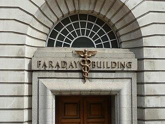 Faraday Building - The building's entrance