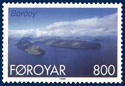 Stamp FR 353 of Postverk Føroya (issued: 25 May 1999; photo: Per á Hædd)