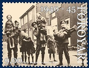 British occupation of the Faroe Islands - Image: Faroe stamp 536 world war 2