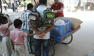 Father's Day - Bangladeshi father with son and daughter