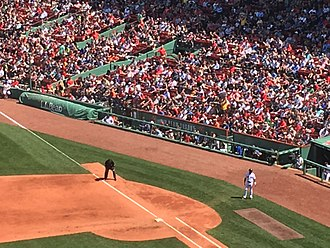 2018 Boston Red Sox season - Field-level premium seating near the first base area