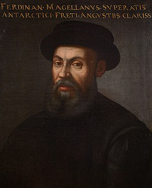 Ferdinand Magellan led the first expedition that circumnavigated the globe in 1519-1522 Ferdinand Magellan.jpg