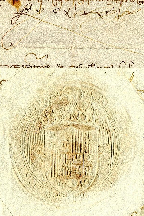 Fernando el Católico firmasello
