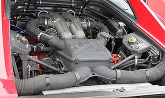 Ferrari 348 - The 3.4L Tipo F119 V8 engine