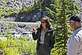 Field Ranger speaking at Artists Ridge, Mt Baker Snoqualmie National Forest (32107489675).jpg