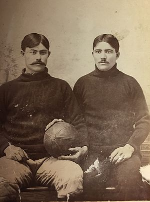Fielding H. Yost - Yost with teammate c 1895 or 1896