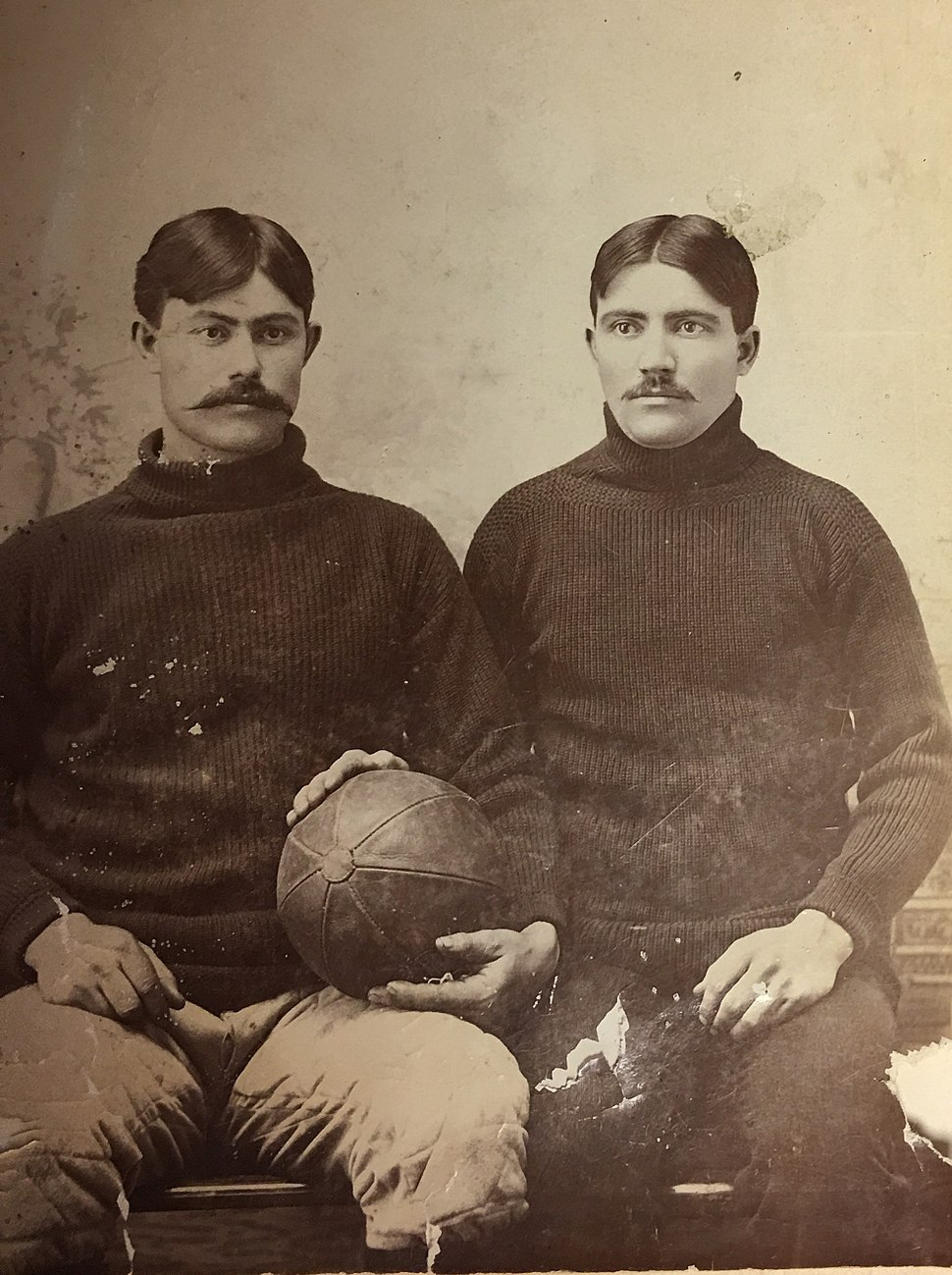 Fielding Yost and teammate c 1895 or 1896